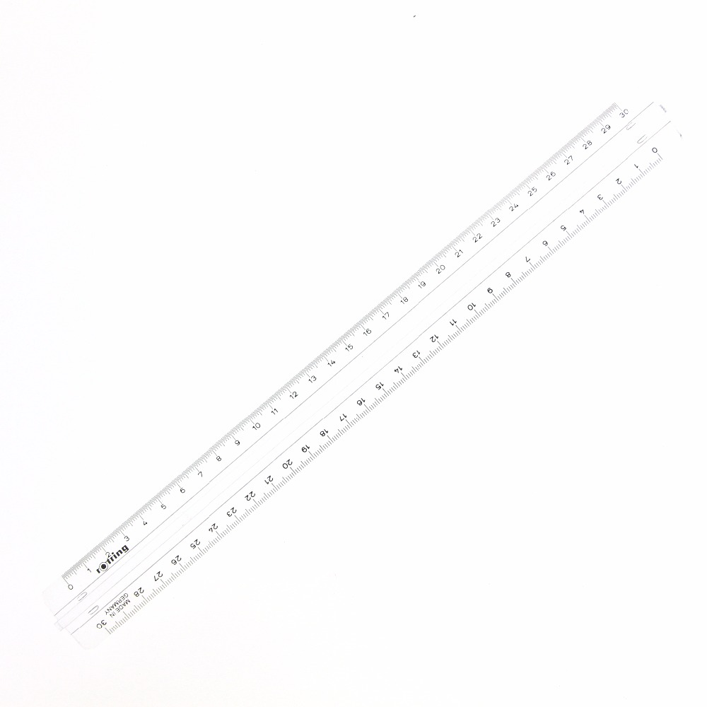 30cm Us 9 16 30cm Plastic Transparent Ruler Professional Drawing Ruler With Handleeasy Move S0221020 In Rulers From Office School Supplies On