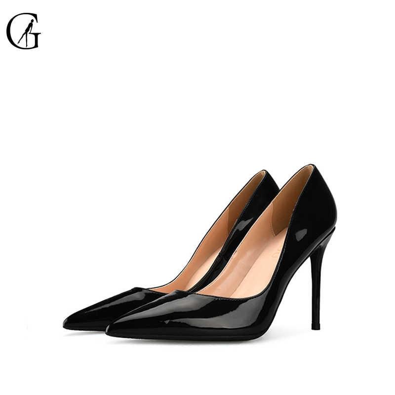 ... GOXEOU Big Size 32-46 2018 New Fashion high heels women shoes thin heel  classic ... 76d010d25ee2