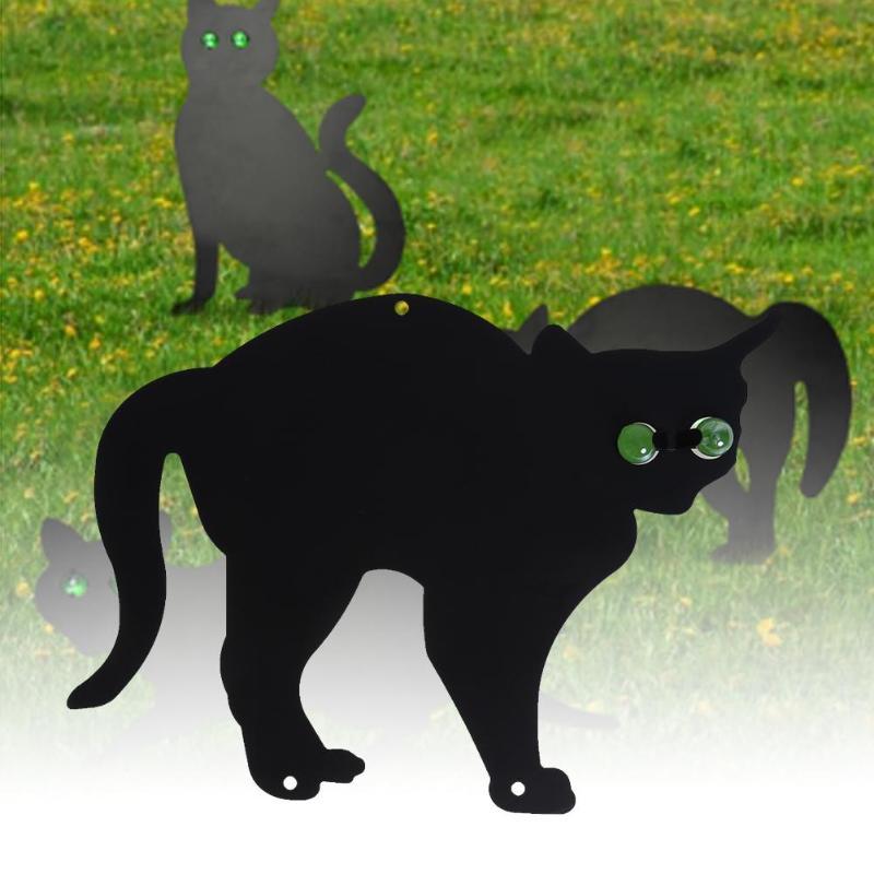 3Pcs Black Scare Cats Garden Patio Pest Fox Repeller Repellent Animal Deterrent Pest Control for Garden Decoration