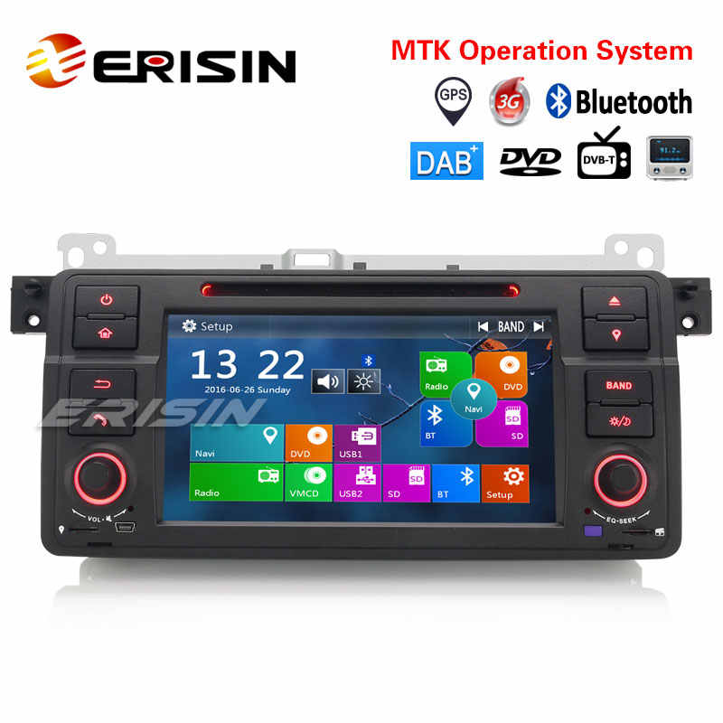 Erisin ES7162B 1 Din 7 Inch Auto Dvd-speler Dab + 3G Radio Fm Canbus Gps Navigator Voor Bmw e46 M3