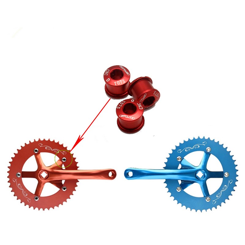 5* Cycling CNC Aluminum Alloy Single Crank Chain Ring Bolts for Bicycle MTB Bike