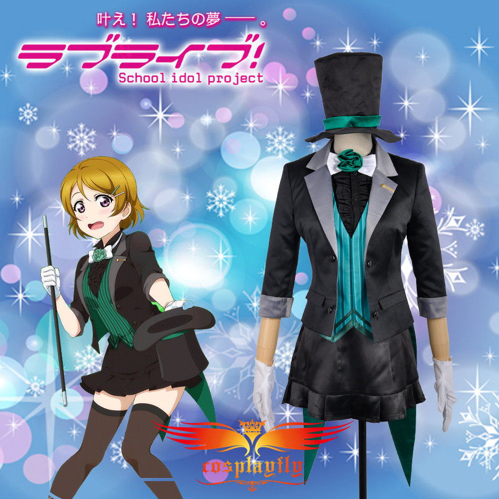 Love Live! Hanayo Koizumi Magician Unawakened Cosplay Costume Custom Made Adult Women Outfit Clothing Dress W0719