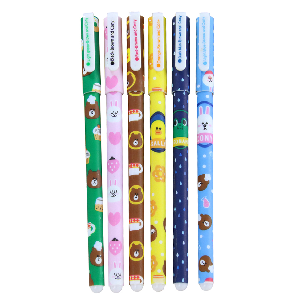 Wholesale 10pcs of 6 pcs/set Colored Gel Pen Office School Stationery supplies, Bear and rabbit series PatternWholesale 10pcs of 6 pcs/set Colored Gel Pen Office School Stationery supplies, Bear and rabbit series Pattern