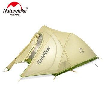 Nature randonnée Cirrus tente ultralégère 2 personnes 20D Nylon avec silicone enduit tente de Camping avec tapis gratuit NH17T0071-T