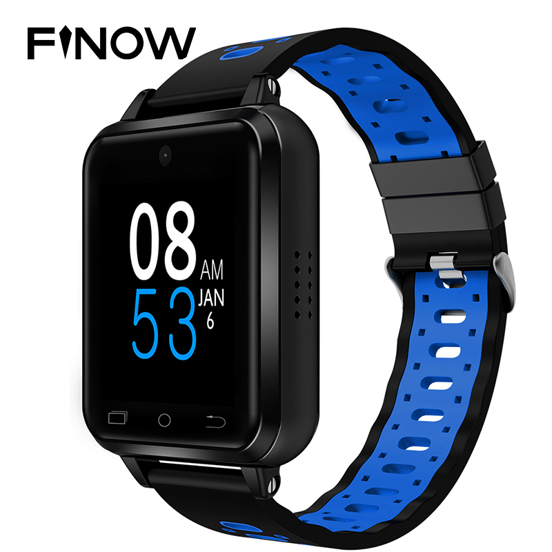 Смарт часы Finow Q2 4G, Android 6,0, MTK6737, 1 ГБ/16 ГБ, умные часы, телефон, частота сердечных сокращений, поддержка sim карт, Замена ремешка PK M9/M5/H5