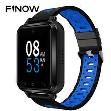 Finow Q1 Pro 4G smart watch Android 6 0 MTK6737 1 GB 8 GB zegarek smartwatch z telefonem częstość akcji serca że karta Sim obsługuje wymienić pasek PK M9 M5 H5 tanie tanio 1 54inch Elektroniczny Passometer Tętna Tracker 24 godzin instrukcji Tracker fitness Wiadomość przypomnienie Kalendarz