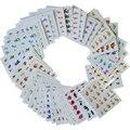 50 Folhas de Transferência de Água Etiqueta Do Prego Arte Francesa Dicas DIY Aleatório Projeta Decalques para Unhas Manicure Polonês Dicas de Beleza XF1051-1100
