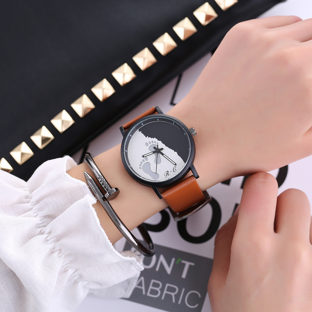 Quartz Wristwatch Femme Classic Casual Leather Watch Fashion Military Sport Clock Women Watches цена и фото