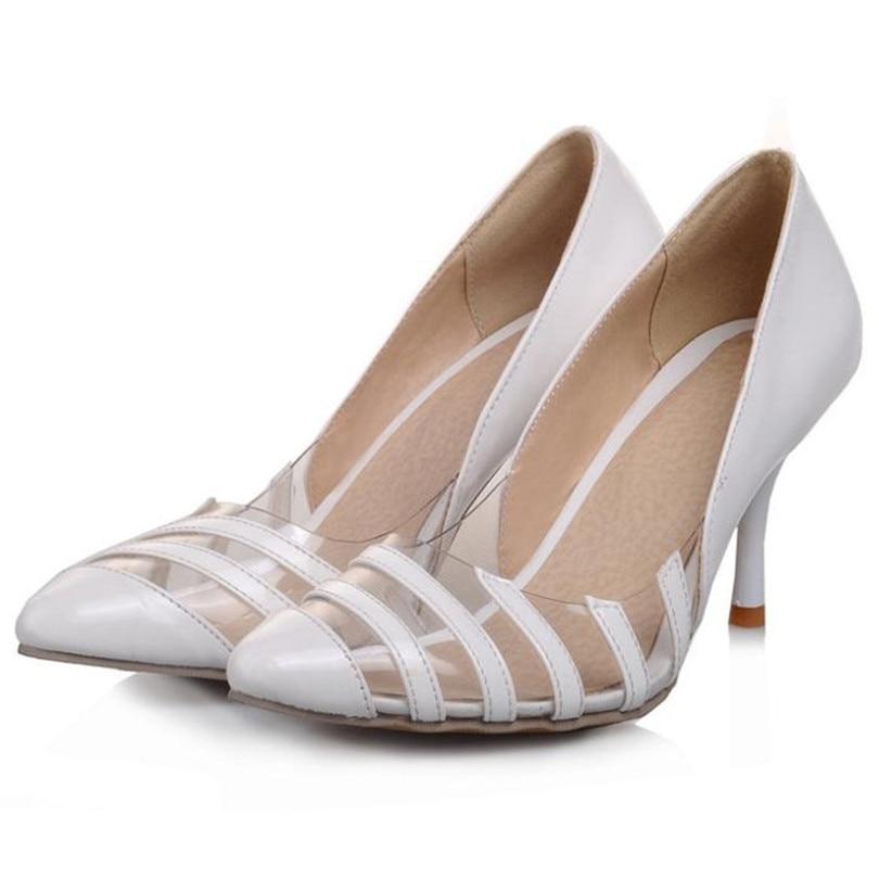 ФОТО Leisure Outdoors Women Pumps Patchwork  Fashion Beach Shoes Pumps Slip-On Pointed Toe Thin Heels Platform Pumps 5 Colors