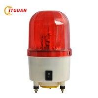TGSG 100 led loud alarm siren rotary light way DC12/24V AC220/380V with bolt bottom warning light alarm