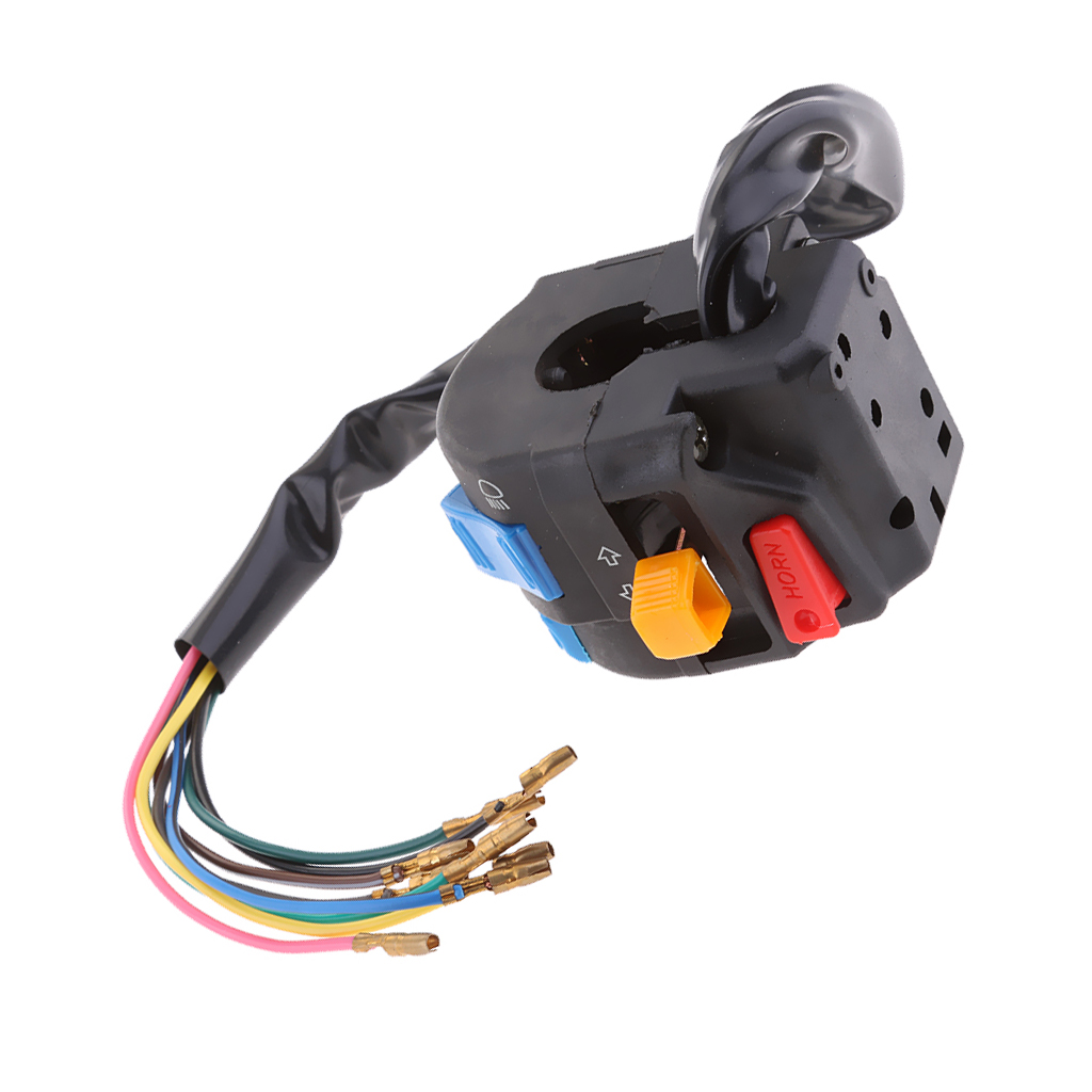 1 Pcs Motorcycle Multi function Switch Push Button Headlights Turn Signal PASS Switch 12V For 22mm Handlebar ATV Motorcycle Etc-in Motorcycle Switches from Automobiles & Motorcycles