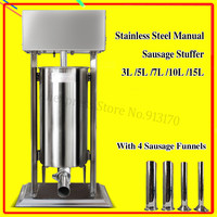 Heavy Duty Manual Sausage Stuffer Meat Filler Commercial 15L Stainless Steel Churros Making Machine