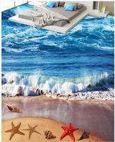 Sóng xanh của biển trải sàn 3D PVC tầng wallpaper PVC sàn không thấm nước Trang Trí Nội Thất