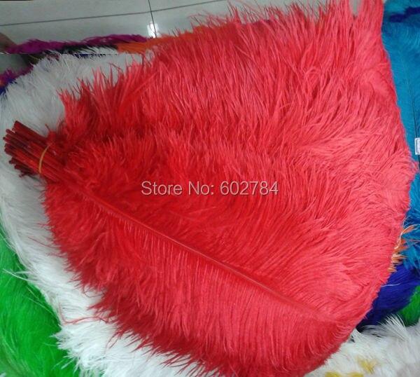 99fdc881f94b ᗗEMS Livraison gratuite rouge 50 PCS 50-55 cm 20-22 pouce autruche ...