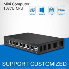 Mini PC Dual Core 6 Ethernet LAN Celeron 1037U pfSense Router Firewall Mini Desktop Computer Windows