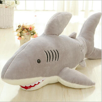 цена на 2016 1pc Hot sale Super Likable Shark Stuffed Plush Toy Funny Toy For Gift High Quality Children Gift 65cm