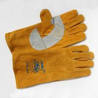 Wool Material Extended Protection Durable Fire Retardant Reinforced Electric Welding Glove Labour Safety Protection