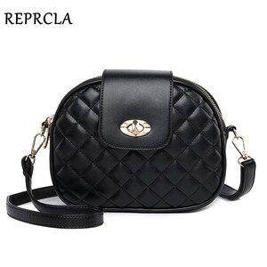 Image 1 - REPRCLA Hot Fashion Crossbody Bags for Women 2020 High Capacity 3 Layer Shoulder Bag Handbag PU Leather Women Messenger Bags