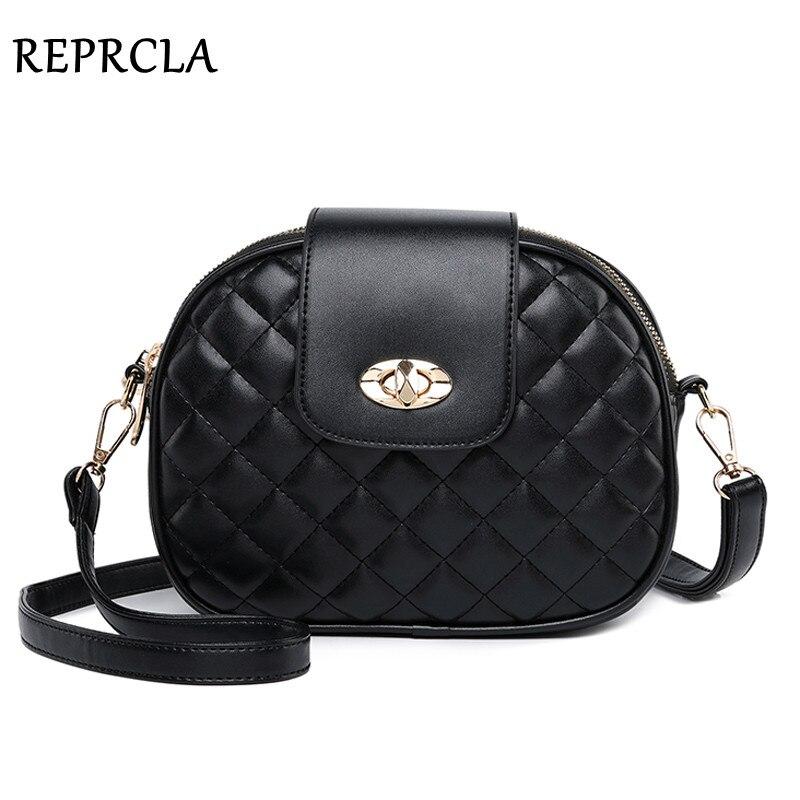 REPRCLA bolsos de bandolera de moda para mujeres 2018 de alta capacidad 3 capas bolso de hombro bolso de cuero PU mujeres bolsos de mensajero