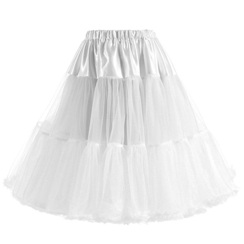 2018 Ruffle Een Lijn 2 Hoops 2 Lagen Wedding Petticoats Jupon Mariage Bruiloft Accessoires Hoepelrokrok Puur Wit En Doorschijnend