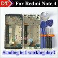 Alta qualidade display lcd + digitador assembléia tela de toque para xiaomi redmi note 4 hongmi note 4 celular com quadro
