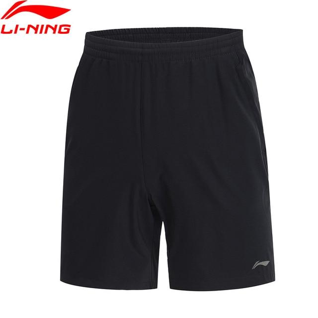 Li-Ning мужские беговые шорты серии Regular Fit 88% полиэфир, 12% спандекс подкладка комфорт спортивные шорты нижняя часть AKSP021 MKD1600