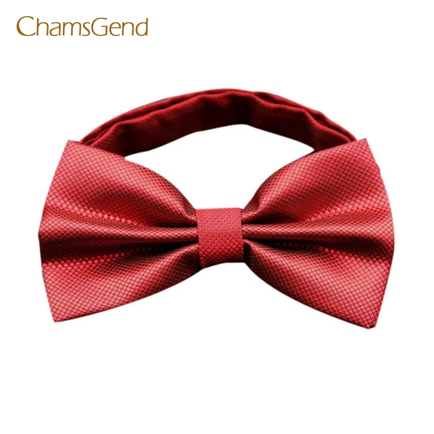 CHAMSGEND 2017 Fashion Men's Butterfly Cravat bowtie Wedding commercial bow ties Cravats Accessories May04