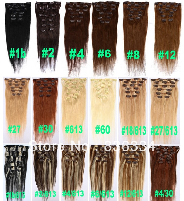 Super Deal 20 Different Colors Light Colorblended Colors Remy Hair