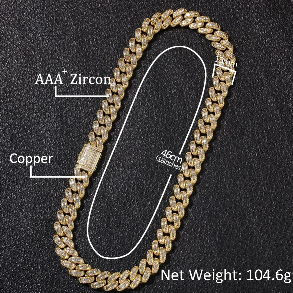 Image 5 - THE BLING KING Luxury Iced Cubic Zirconia Miami Cuban Link Chain  Necklaces Hiphop Sqaure CZ Fashion Top Quality Jewelry ChainsChain  Necklaces