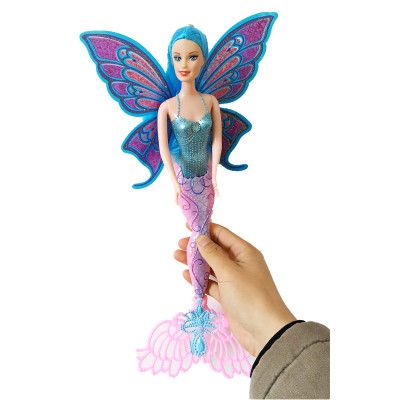 15Inch Swimming Mermaid Doll Moxie Girls Magic Classic Mermaid Doll With Butterfly Wing Toy For Girls Birthday Gifts D49