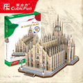 5set/lot Brand New 3D Puzzle Model Toys Italy Duomo di Milano DIY Assembly Paper 3D Puzzle Construction Model Toy