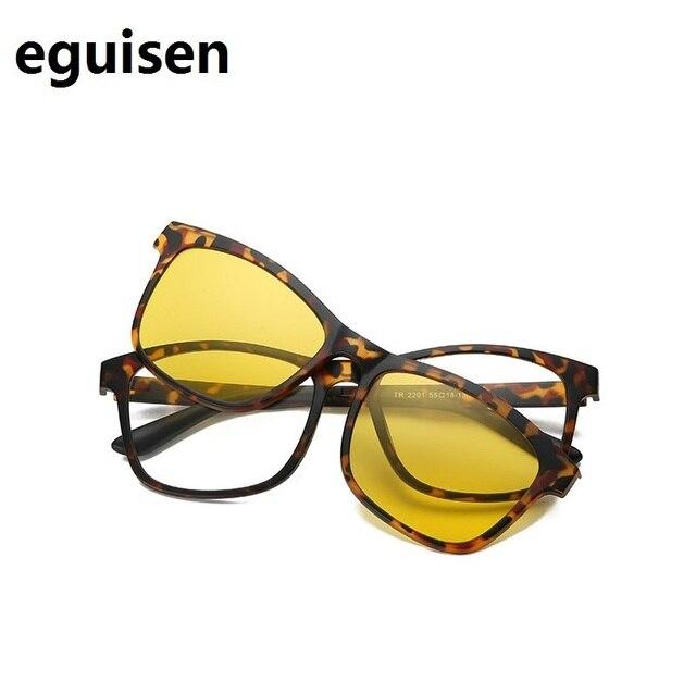676da0b6eb3 width-143 TR magnetic set mirror myopia glasses framenew retro men women  polarized clip lenses sunglasses spectacles frame 2201