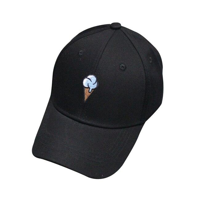 7b7ee940fc2a10 Unisex Men Women Baseball Cap 2018 New Hip Hop Caps Peaked Adjustable  Stitchwork Snapback Embroidery Ice Cream Baseball Hat