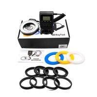 Jumpflash Camera Ring Flash Light 3000K 15000K 5 150cm Flash Range Photography Lighting For Canon DSLR Camera Flash