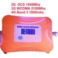 4 BANDAS DCS repetidor do impulsionador 2G + 3G WCDMA + 4G booster, Banda 3 & band 9 display LCD LTE FDD LTE 4G impulsionador repetidor impulsionador 4G TDD