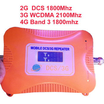 4 BANDS booster 2G DCS repeater+3G WCDMA+4G booster,Band 3& band 9 FDD LTE 4G booster LCD display LTE booster repeater 4G TDD фото