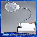 2.5X 5X Lupa Lupa de Luz LED Lupa De Mesa Grande con Clip De Fijación para la Lectura
