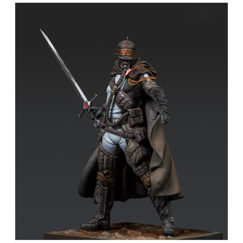 1/24 75mm Fantasy Soldier With Mask And Sword   Toy Resin Model Miniature Kit Unassembly Unpainted