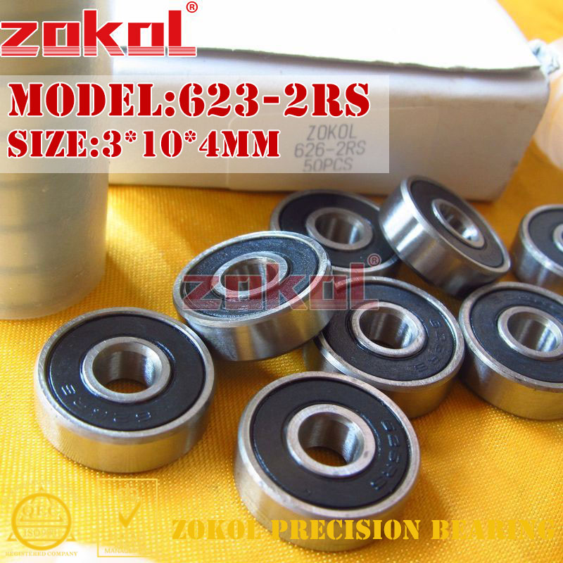 ZOKOL 623 ZZ 2RS Bearing 623-2RS 623ZZ 623rs 623zz Miniature 623 RS Deep Groove Ball Bearing 3*10*4mm