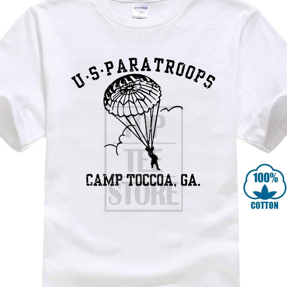 Gildan Mode 2018 Manner Kurzarm T Shirt Uns Paratroops Camp Toccoa