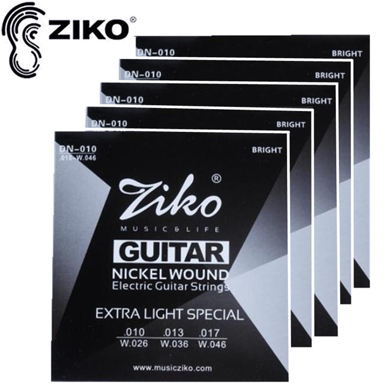 ZIKO .010-.046 DN-010 Electric Guitar strings guitar parts 5sets/lot instrumentos Musicais Accessories