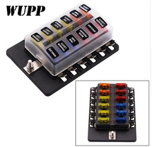 цена на WUPP Universal 1 In 10 Out Fuse Box Block 32V Fuse Holder Box Car Vehicle Circuit Led Indicator Auto Blade Car Fuse Accessory To