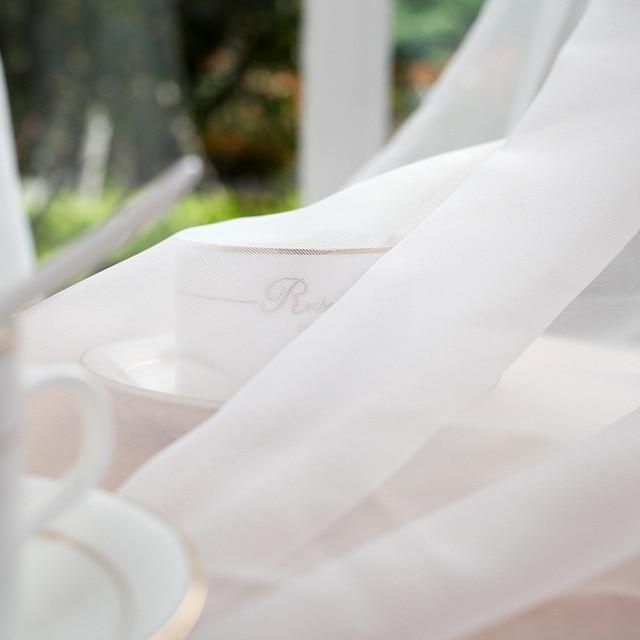Cucina Tende di Tulle Translucidus Moderna Casa Decorazioni Per Finestra Bianco Sheer Voile Tende per il Salone Singolo Pannello B502
