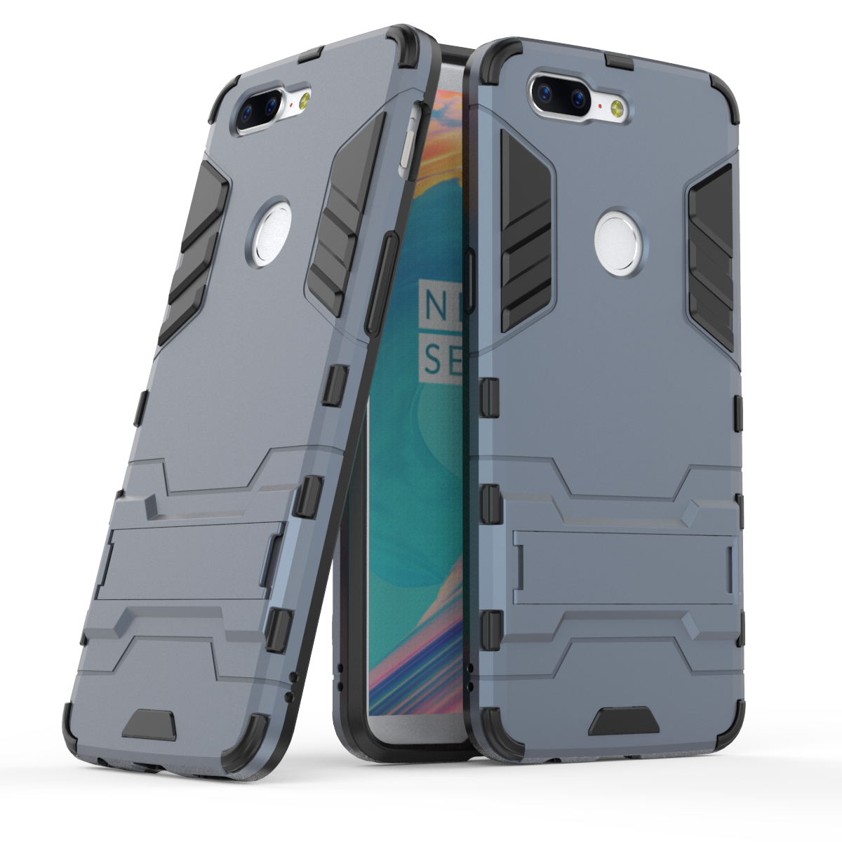 <font><b>3D</b></font> Shockproof Armor Cases For <font><b>Oneplus</b></font> 3 3T 5 5T <font><b>6</b></font> 6T 7 7Pro 1+3 1+3T 1+5 1+5T 1+<font><b>6</b></font> 1+6T 1+7 1+7T TPU Hard Phone Cover Stand Shell image