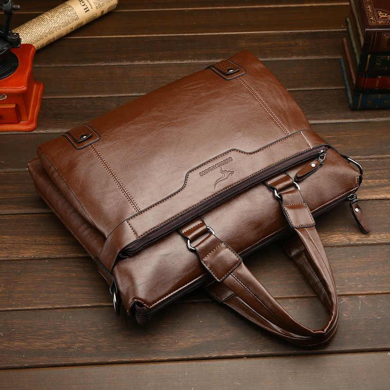 Nowa torebka do pracy w biurze pakiet pojedyncze ramię torba mężczyźni skórzane odzież skórzana teczki projektant luksusowe torebki