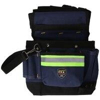 600D Oxford Cloth Tool Bag Reflective Stripes Pouch Electrician Waist Bag