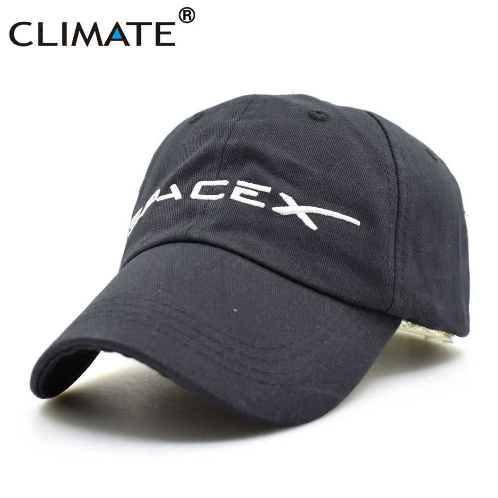 CLIMATE Spacex Dad   Caps   Men Women Cool Black UFO   Baseball     Cap   Cotton Outer Space Rocket Musk Fans Sport Active Cool   Caps   Hat