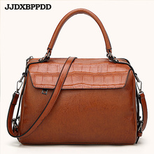 JJDXBPPDD 2018 PU Leather Top-handle Women Handbag Solid Ladies Lether