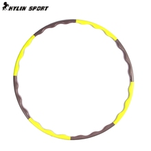 8 Parts Hot Selling Plastic Abdominal Fitness Hula Hoops Disassemble Massage Health Weight Loss Equipment Thin Waist