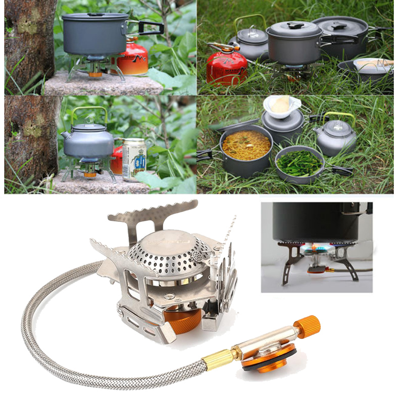 Gas Burner Outdoor Equipment Stove Foldable Split Type Stainless Steel Picnic Camping Cooking Supplies